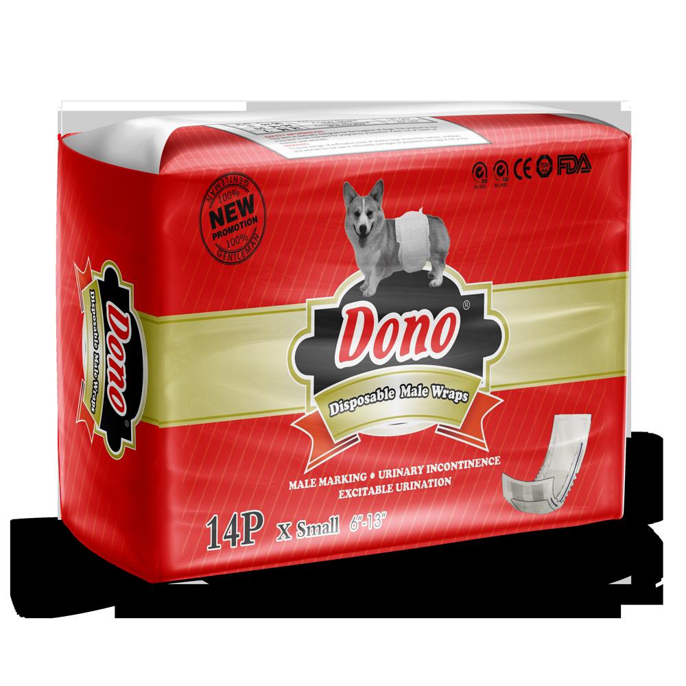 Пояса Dono Male Pet Diaper одноразовые впитывающие для кобелей размер XS, 14шт