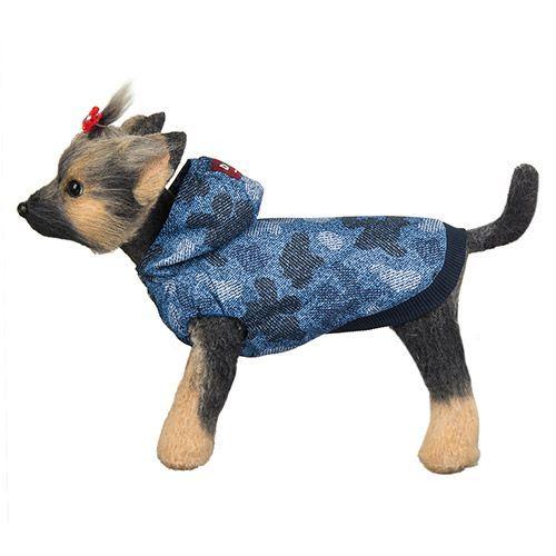 Ветровка для собак Dogmoda Мегаполис синяя, размер 1 20см комбинезон для собак dogmoda мегаполис унисекс цвет синий размер xxl