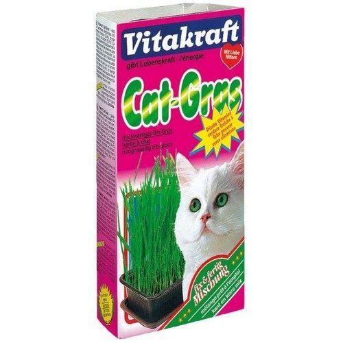 Лакомство для кошек VITAKRAFT смесь для проращивания свежей травы 120г