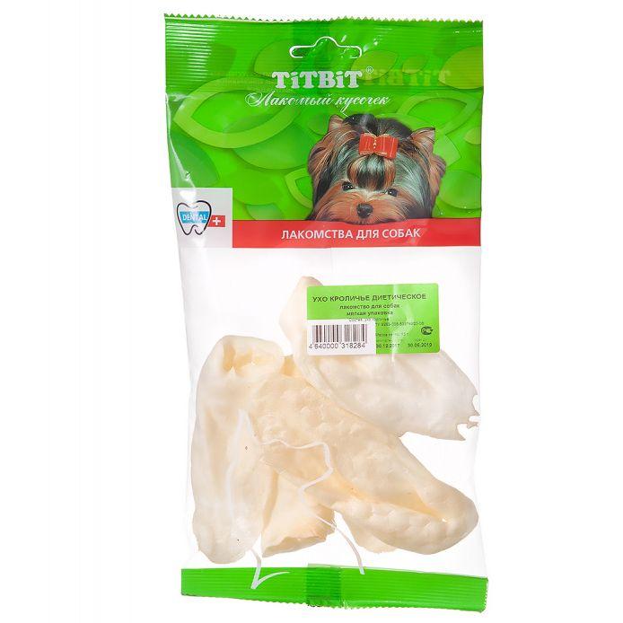 цена на Лакомство для собак TITBIT Ухо кроличье диетическое