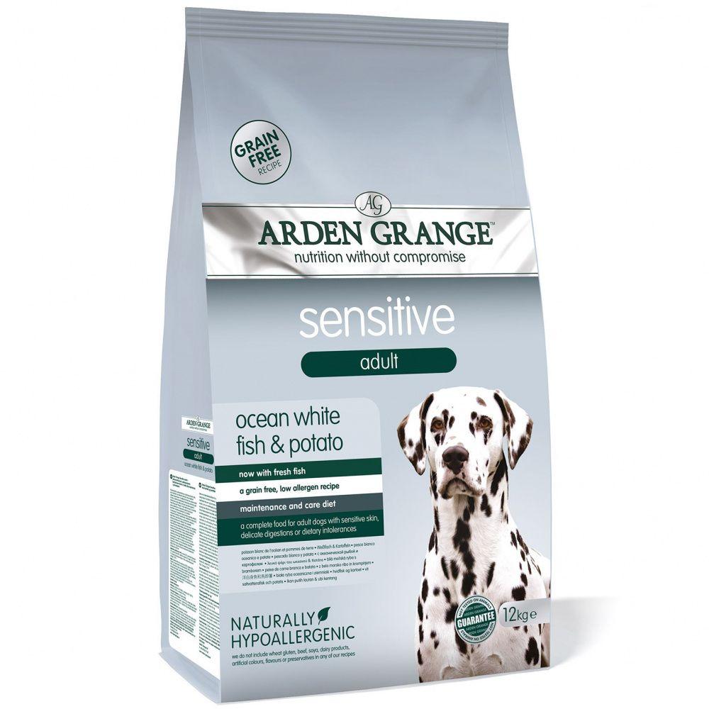 Корм для собак ARDEN GRANGE Sensitive с деликатным желудком и чувствительной кожей сух. 12кг grange