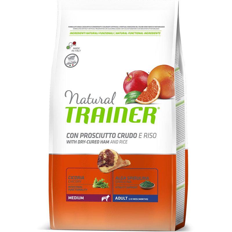 цена Корм для собак TRAINER Natural для средних пород сыровяленая ветчина, рис сух. 3кг онлайн в 2017 году