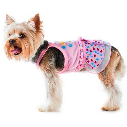 Платье для собак HAPPY PUPPY Цветы размер 3 лежак для собак happy puppy узоры 3 57х44х15см