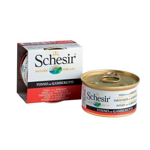 Корм для кошек SCHESIR тунец, креветки конс. 85г недорого