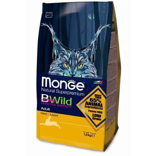 Корм для кошек Monge Bwild Cat Hare с мясом зайца сух. 1,5кг