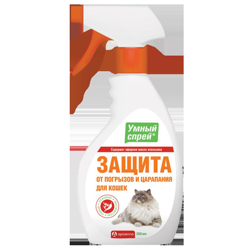 Умный спрей Api-San Защита от погрызов для кошек 200мл
