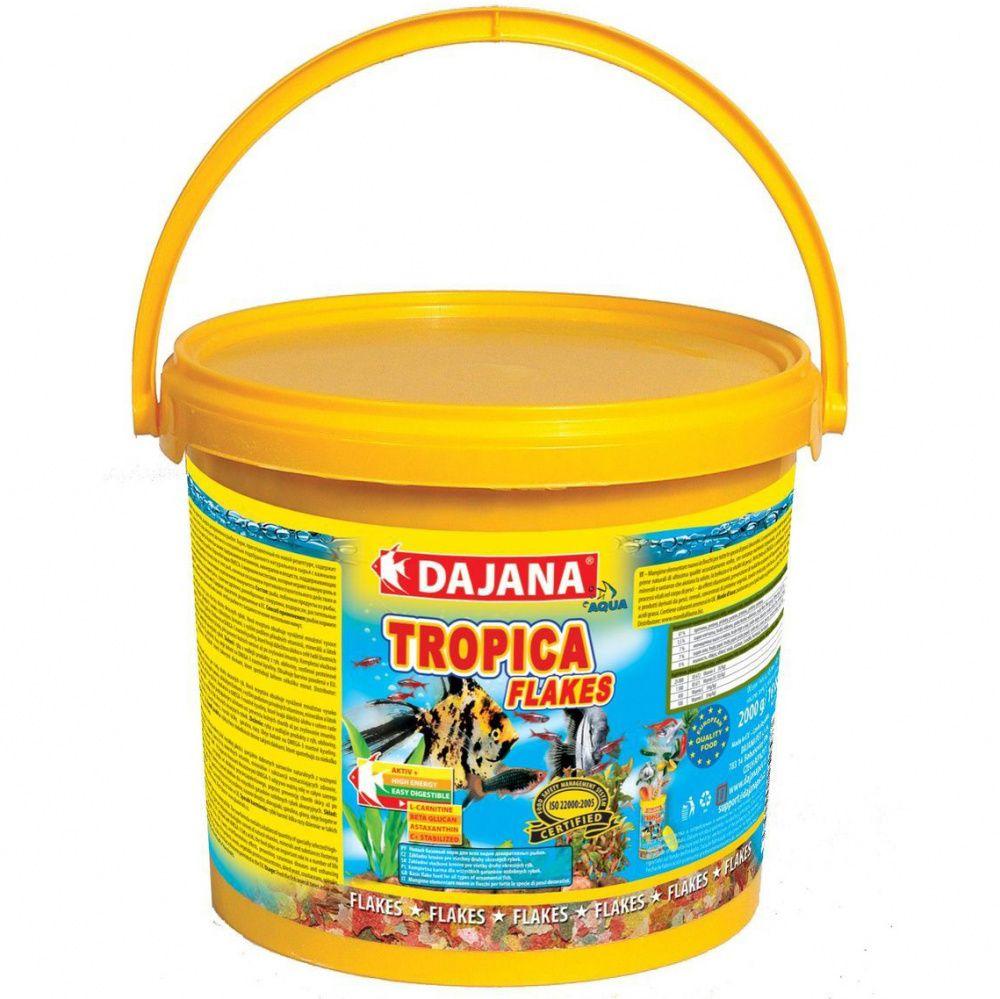 Корм для рыб DAJANA Tropica Flaces хлопья 10000мл/2кг ведро