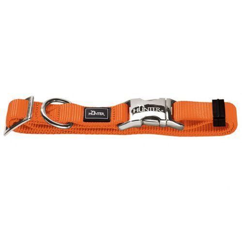 Ошейник для собак HUNTER ALU-Strong M нейлон оранж. 40-55см