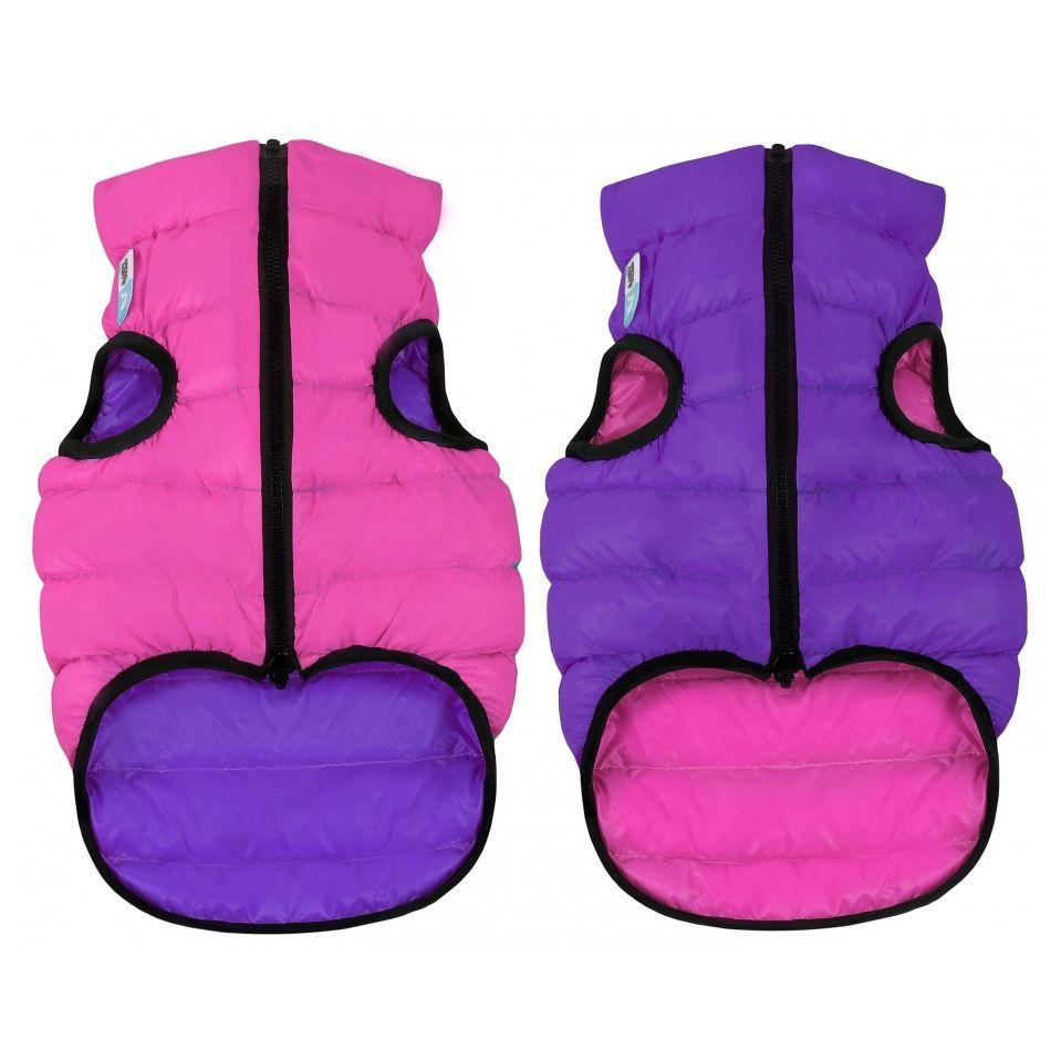 Куртка для собак AiryVest двухсторонняя размер S 35см розово-фиолетовая