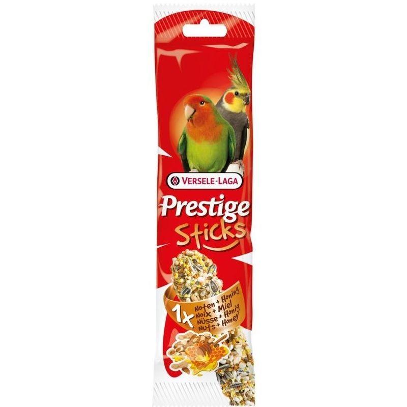 все цены на Лакомство для птиц VERSELE-LAGA палочка для средних попугаев с орехами и медом 70г онлайн