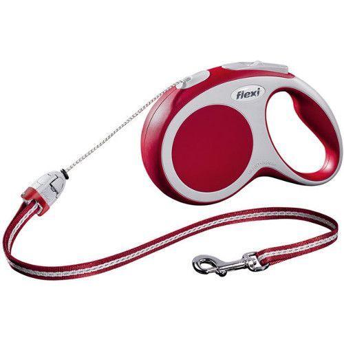 купить Рулетка для собак Flexi Vario Long M до 20 килограмм, трос 8м красная онлайн