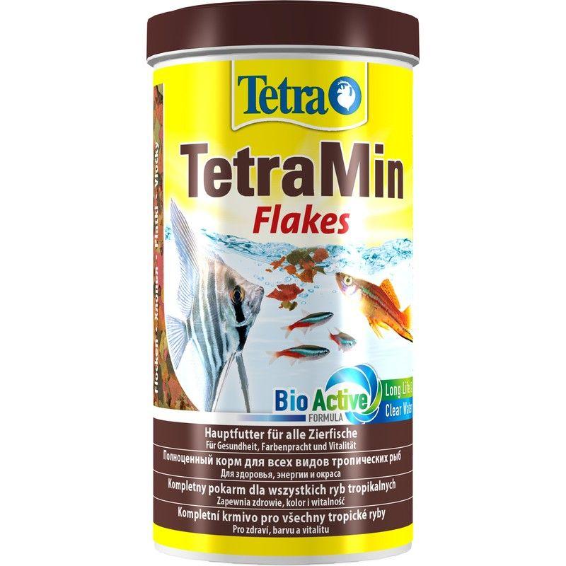Корм для рыб TETRA Min для всех видов рыб в виде хлопьев 1л корм для рыб tetra betta в виде гранул 5г