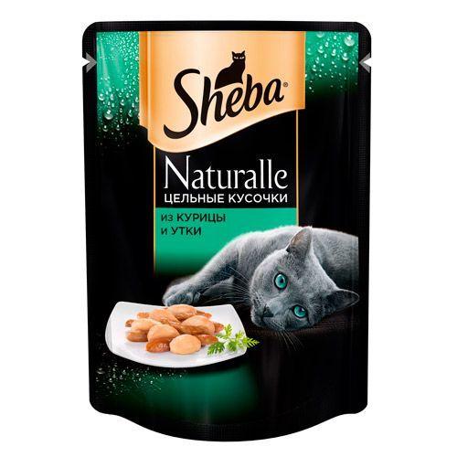 Корм для кошек SHEBA Naturalle цельные кусочки курица и утка конс. пауч 80г от Бетховен