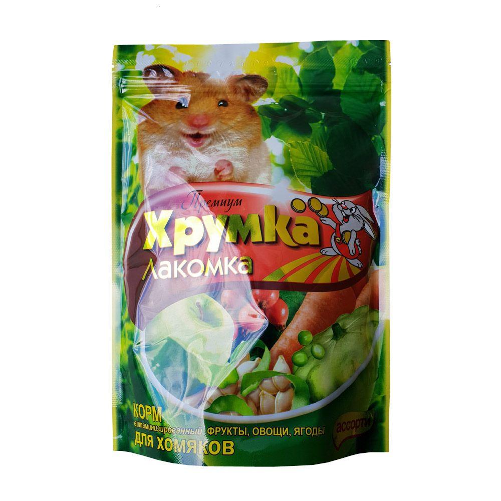 Корм для грызунов ХРУМКА-ЛАКОМКА для хомяков, фрукты сух. 500г смесь высококачественная вака для хомяков 500г