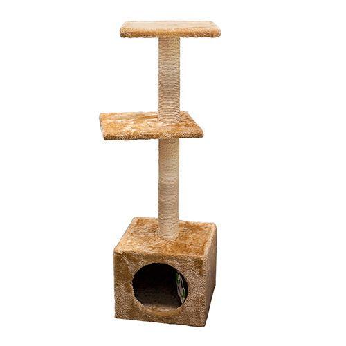 Когтеточка для кошек Foxie (MAJOR) домик 30x30x88см бежевый