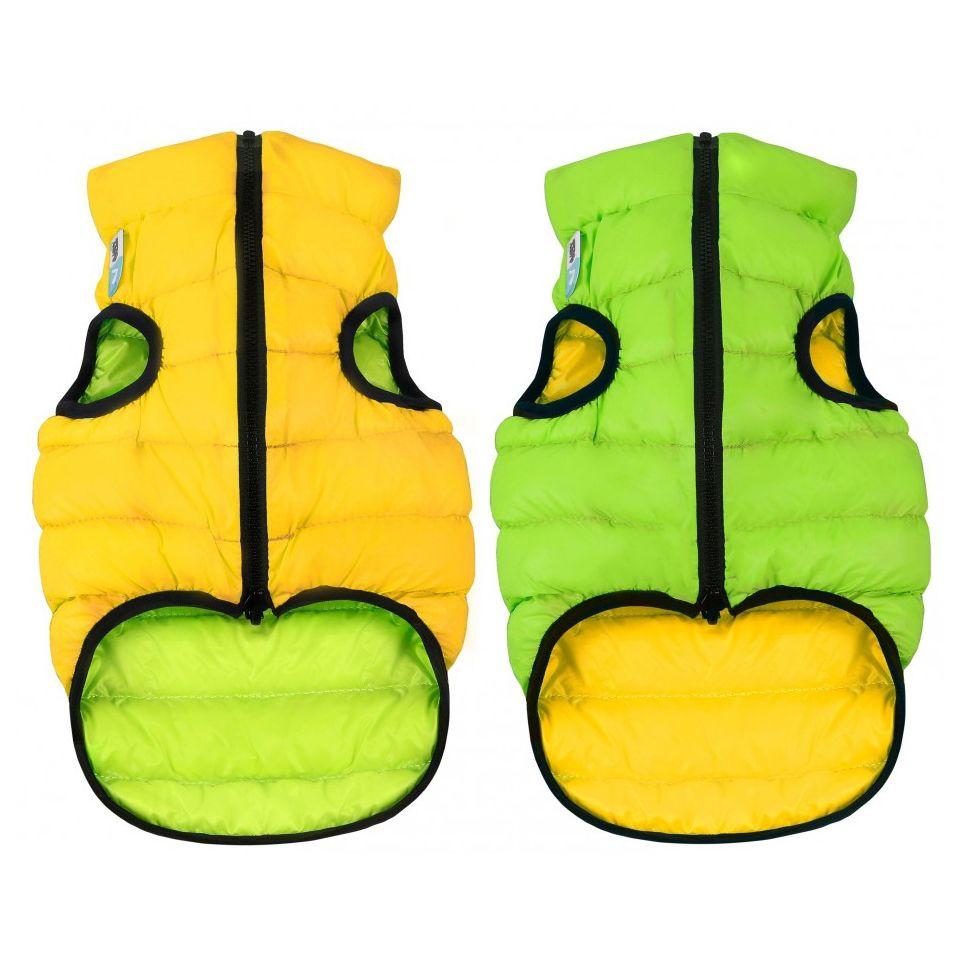 Куртка для собак AiryVest двухсторонняя размер M 50см салатово-желтая