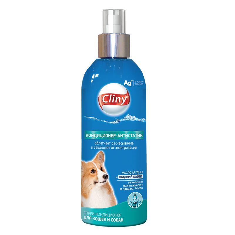 Кондиционер-антистатик Cliny спрей для кошек и собак 200мл