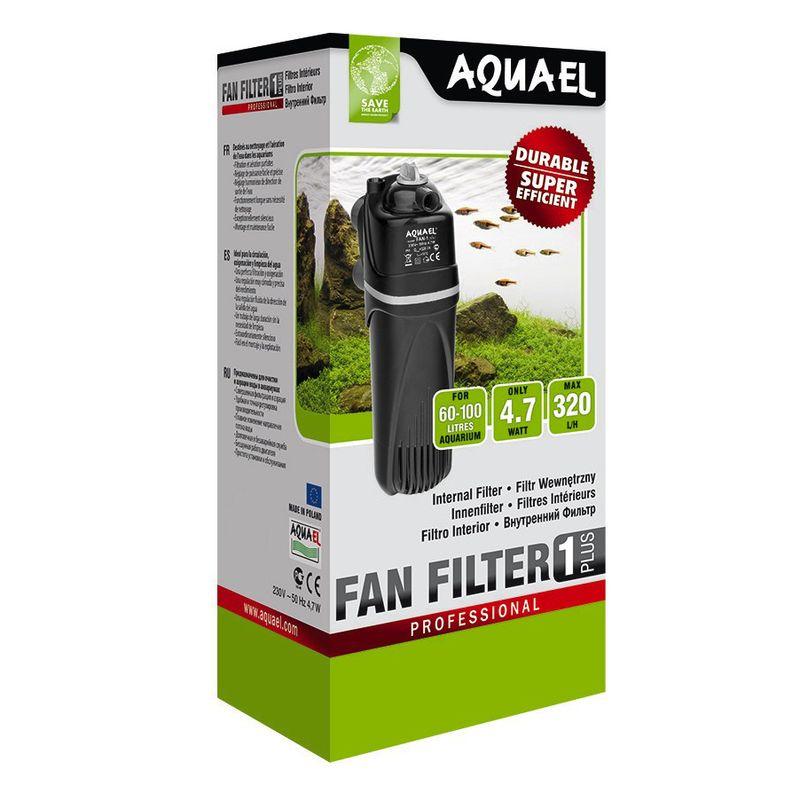 Фото - Внутренний фильтр AQUAEL FAN FILTER 1 plus для аквариума 60 - 100 л (320 л/ч, 4.7 Вт) внутренний фильтр aquael fan filter 3 plus для аквариума 150 250 л 700 л ч 12 вт