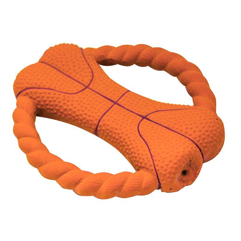 Игрушка для собак MAJOR Фрисби баскетбол 15х14х3см латекс