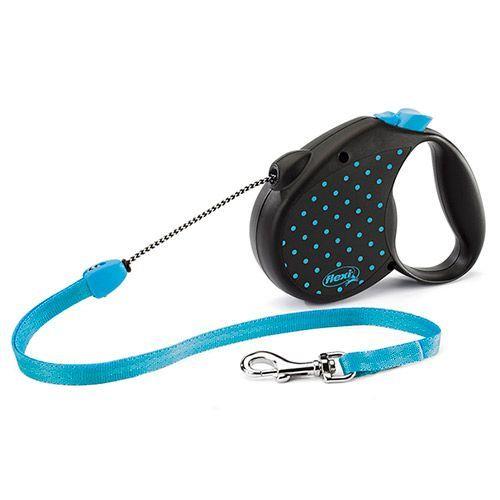 Рулетка для собак Flexi Color M до 20кг, 5м голубая недорого