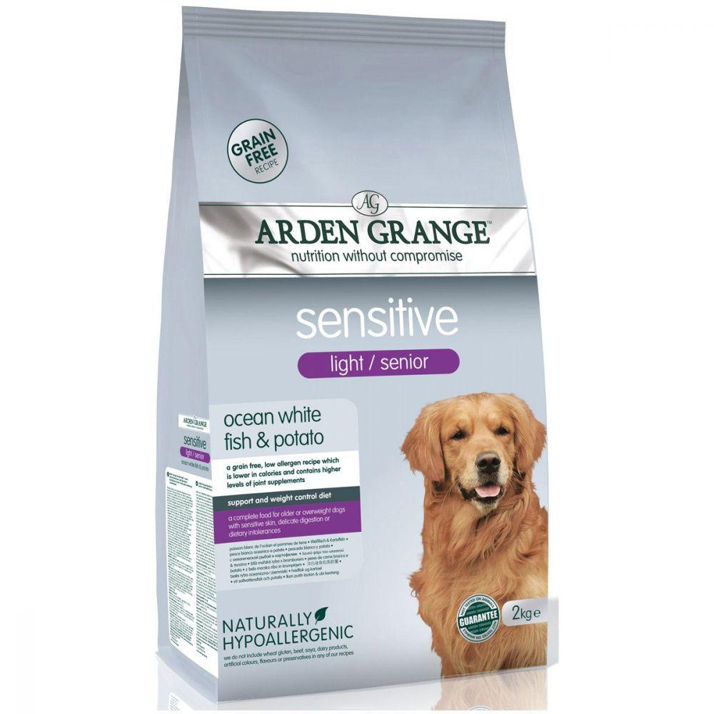 Корм для собак ARDEN GRANGE для преклонного возраста, с деликат.желудком и чувствит. кожей сух. 2кг grange