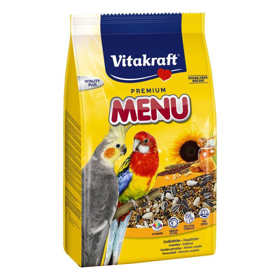 цена Корм для птиц VITAKRAFT MENU для средних попугаев 1кг онлайн в 2017 году