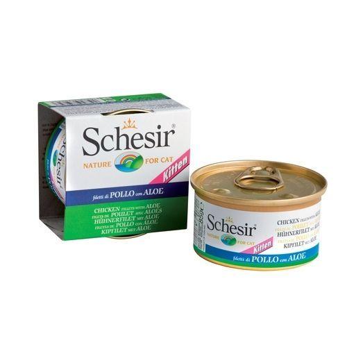 цена на Корм для котят SCHESIR тунец, алое конс. 85г