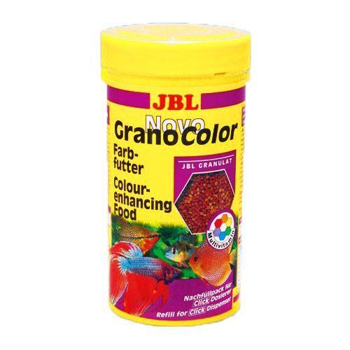 Корм для рыб JBL NovoGranoColor Основной в форме гранул для яркой окраски рыб в банке 250мл (120г)