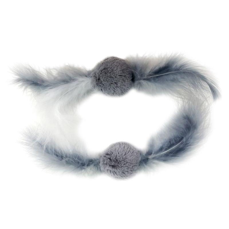 цены Игрушка для кошек CHOMPER Arctic Dream Набор Мячики с перьями 2 шт