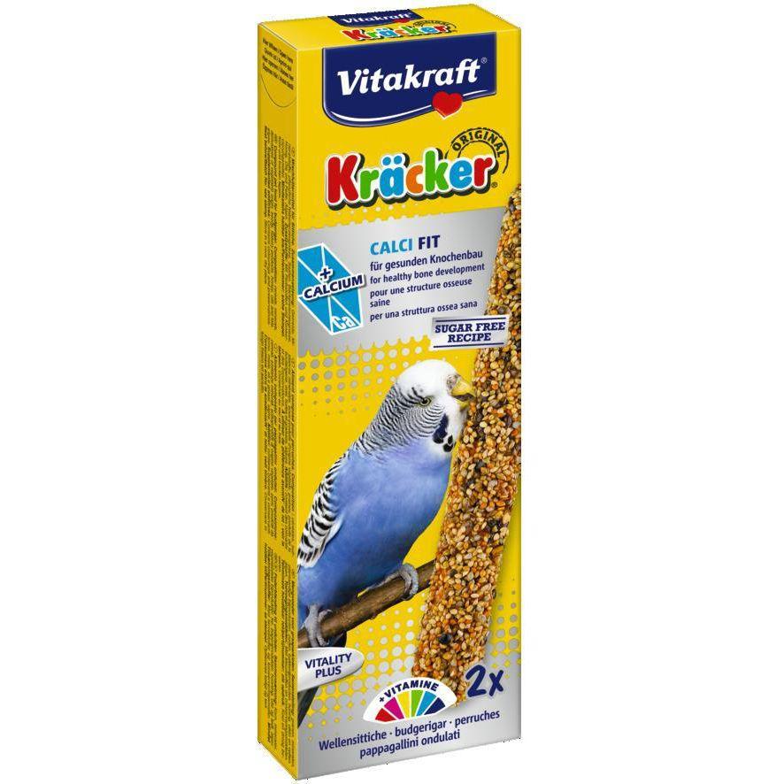 Лакомство для птиц VITAKRAFT Крекеры для волнистых попугаев-птенцов кальций, мед (2шт.уп) лакомство для птиц vitakraft крекеры для волнистых попугаев медовые 2шт уп