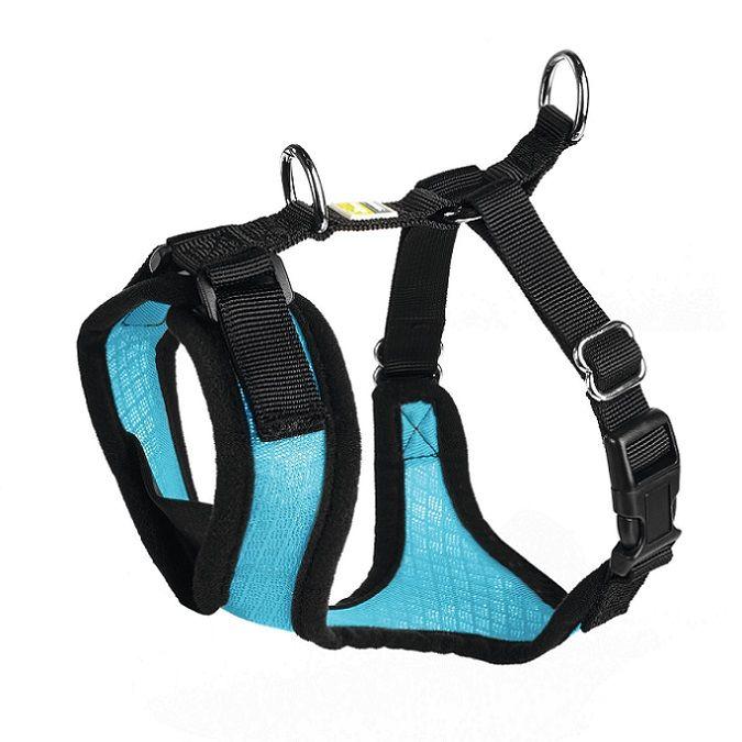 Шлейка для собак HUNTER Manoa XS (35-41см) нейлон/сетчатый текстиль голубой