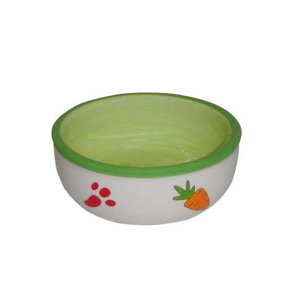 Миска для грызунов Foxie Green зеленая керамическая 10,5х10,5х3см 170мл фото