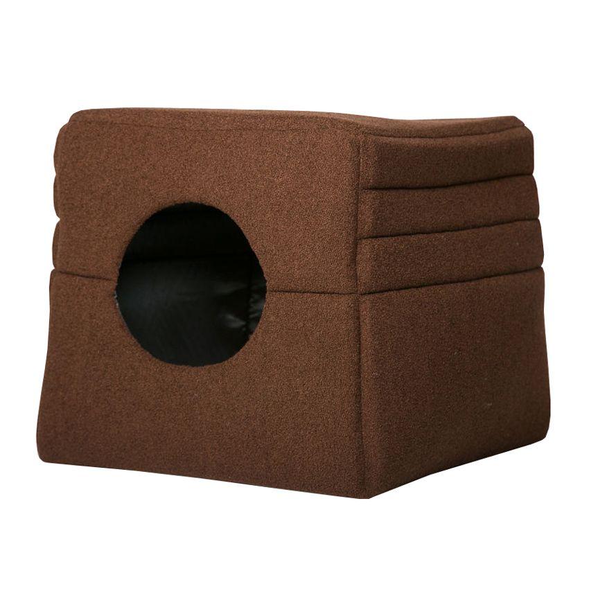 Дом-трансформер для животных YORIKI Colour коричневый 45х45см цены онлайн