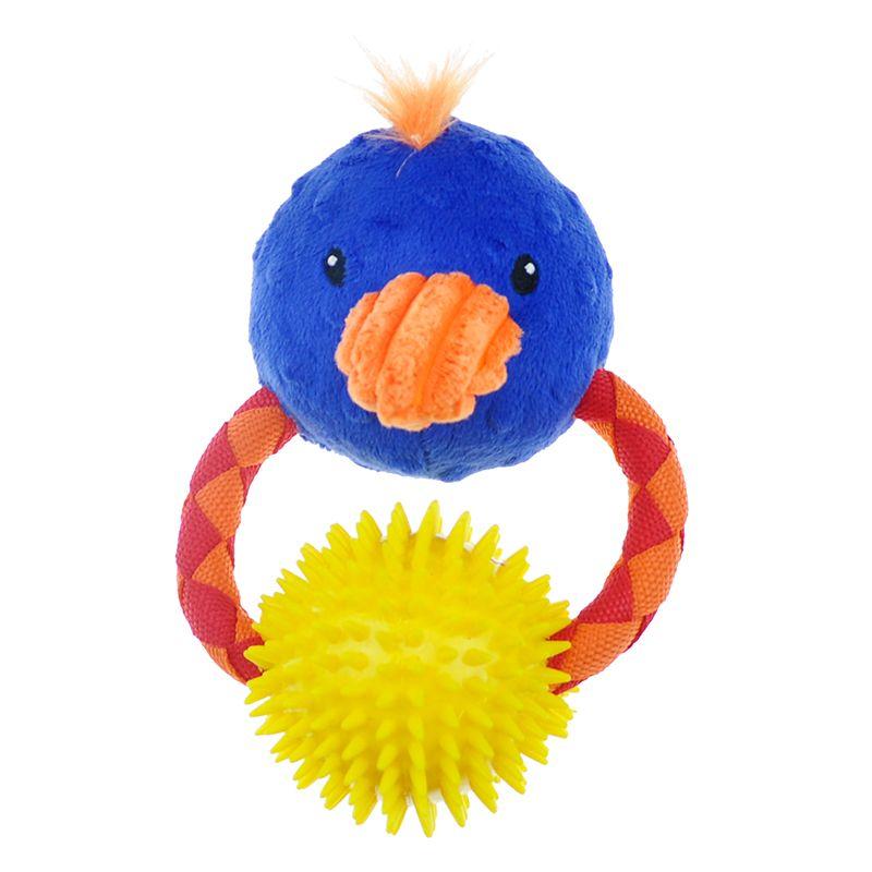 Игрушка для собак CHOMPER Meadow Звери на кольце с мячом и пищалкой плюш 15см игрушка для собак chomper enchanted forest лесные звери на канате с пищалкой плюш 29см