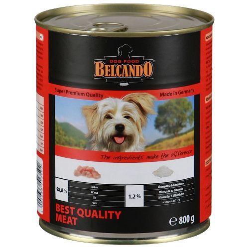 Корм для собак Belcando Отборное мясо конс. 800г пельмени стародворье сливочные 800г