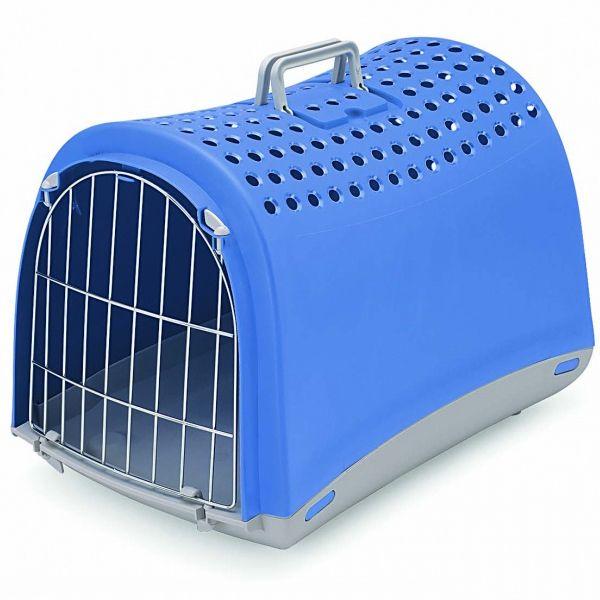 Переноска для животных IMAC LINUS 50х32х34,5см синяя