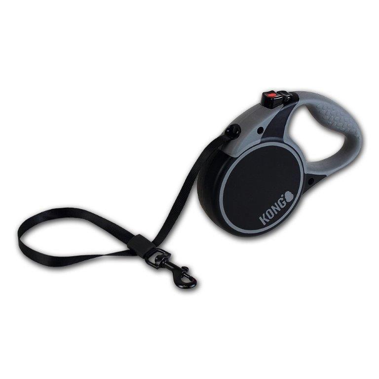 Рулетка для собак KONG Terrain M (до 30кг) лента 5м черная