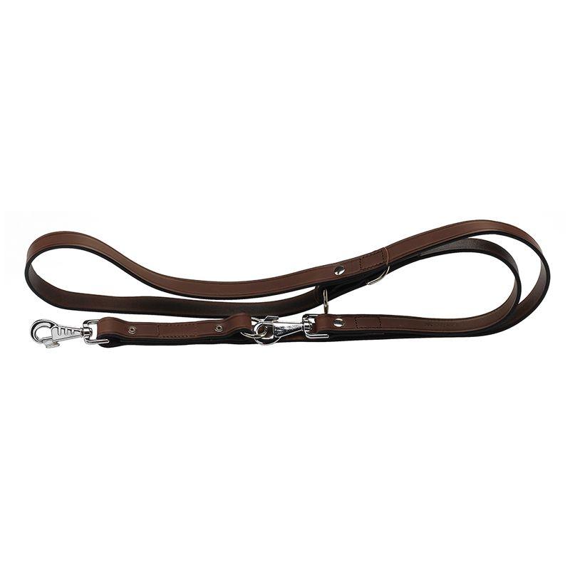 Поводок для собак FERPLAST Vip GA12/200 кожаный коричневый