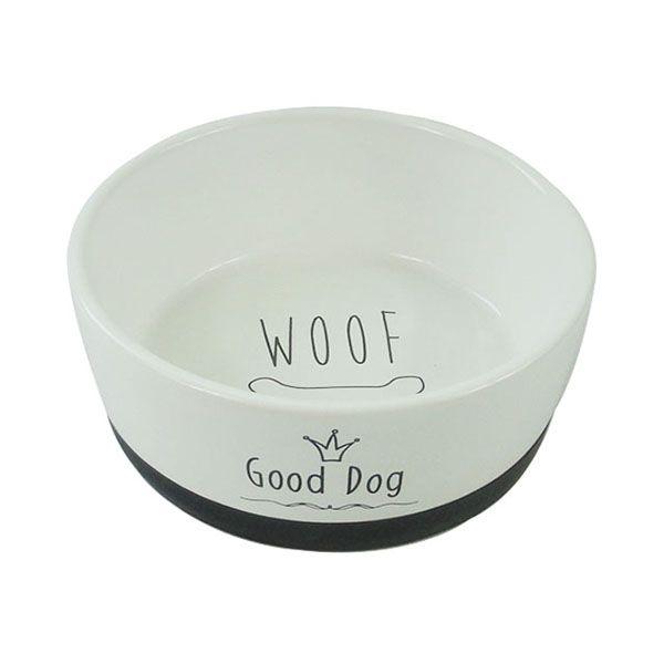 Миска для животных Foxie Good Dog белая керамическая 14х5,5 см 360мл недорого