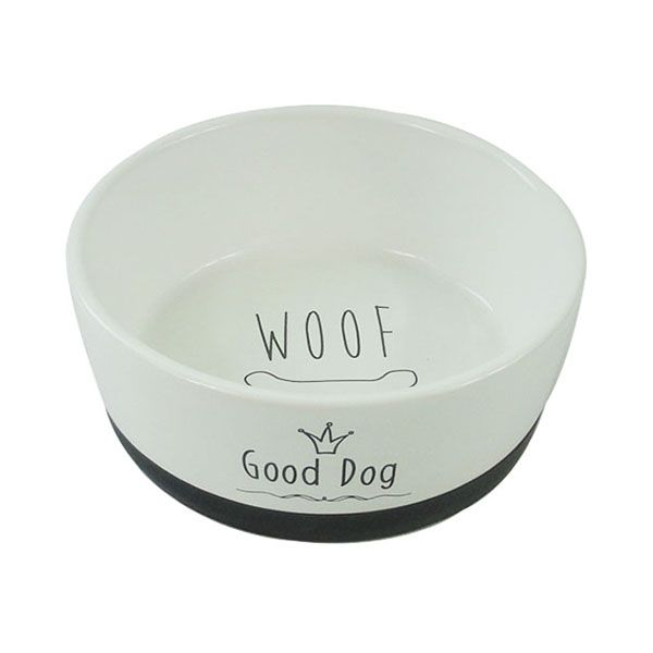 Миска для животных Foxie Good Dog белая керамическая 14х5,5 см 360мл миска для животных foxie dog on feet черная керамическая 17х14 5х10 5см 200мл