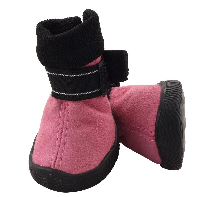 Фото - Ботинки для собак TRIOL YXS143-3 розовые, 40х40х55мм (уп.4шт.) бигуди розовые из высококачественного мягкого пластика 2шт уп