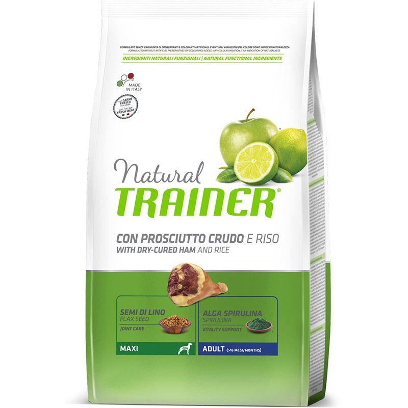 цена Корм для собак TRAINER Natural для крупных пород сыровяленая ветчина, рис сух.3кг онлайн в 2017 году