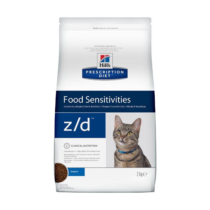 Фото - Корм для кошек Hill's Prescription Diet Feline Z/D при пищевой аллергии, курица корм для собак hill s prescription diet canine z d ultra при пищевой аллергии конс 370г