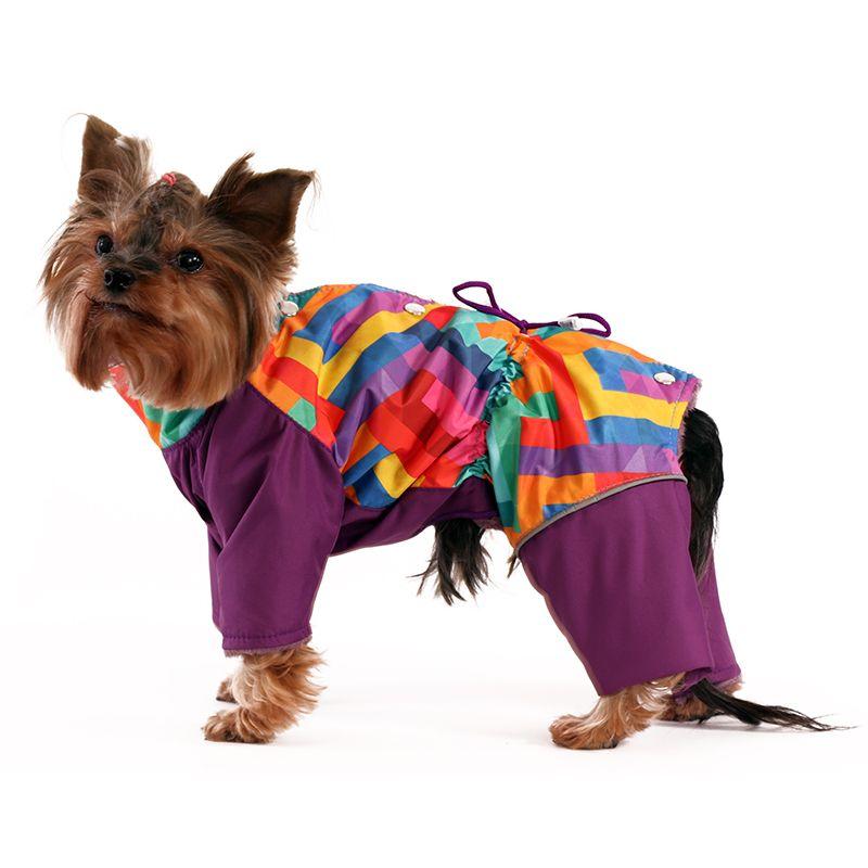 цена Комбинезон для собак YORIKI Спектр мал. (фиолет) р-р XL 32 см онлайн в 2017 году