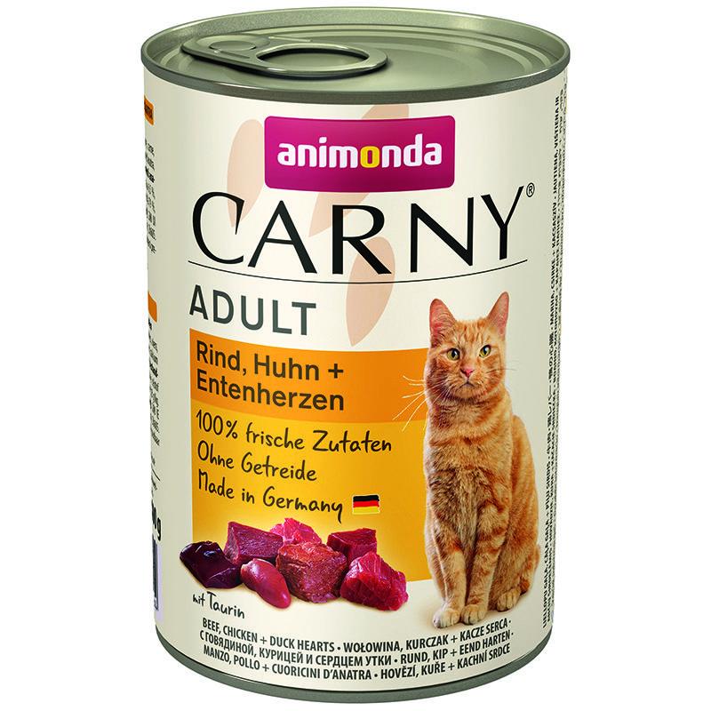 корм для котят animonda carny kitten говядина сердце индейки конс 200г Корм для кошек Animonda Carny Adult говядина, курица, утка конс. 400г