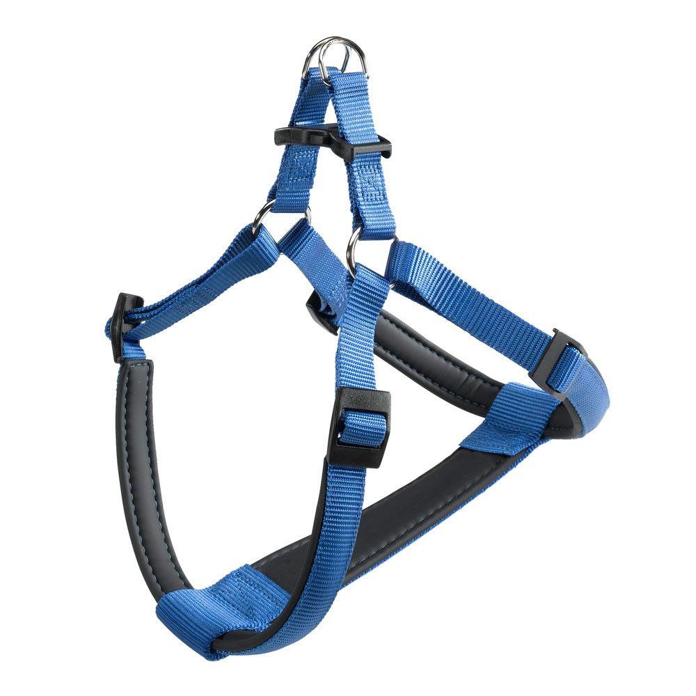 Фото - Шлейка для собак FERPLAST DAYTONA P Мedium нейлон, синяя шлейка для собак ferplast ergocomfort p l синяя