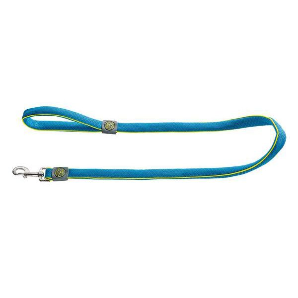 Поводок для собак HUNTER Maui 25/120 сетчатый текстиль голубой