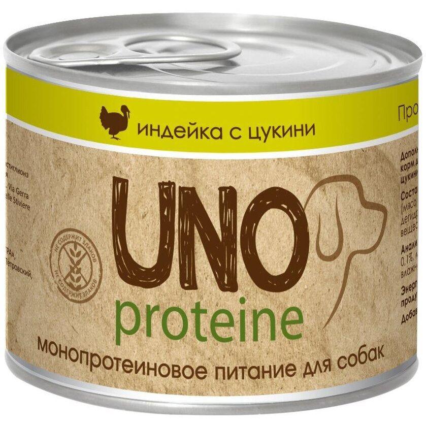 все цены на Корм для собак VitaPRO Uno индейка с цукини конс. 195г онлайн