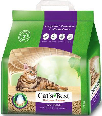 Наполнитель для кошачьего туалета Cat\'s Best Smart Pellets древесный комкующийся 10л (5кг)