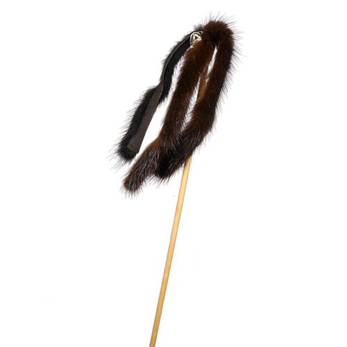 Игрушка для кошек GoSi Дразнилка Норковая пальма на картоне с еврослотом